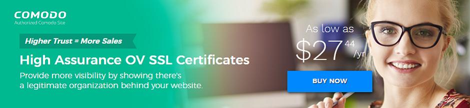 High Assurance Certificates