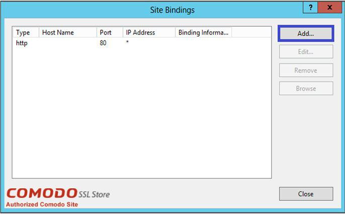 Site Bindings for SSL