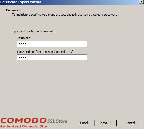 SSL Export into Windows Server - 12