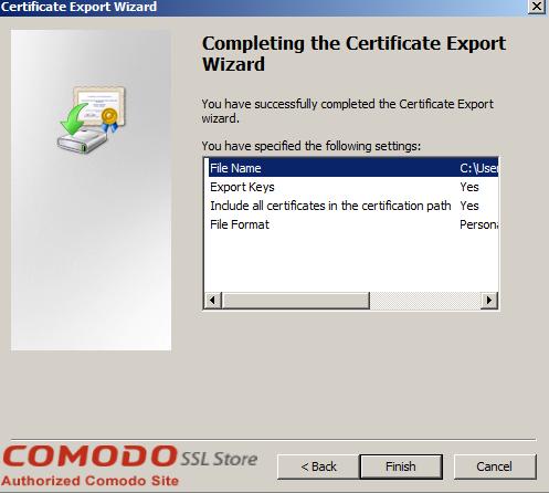 SSL Export into Windows Server - 14