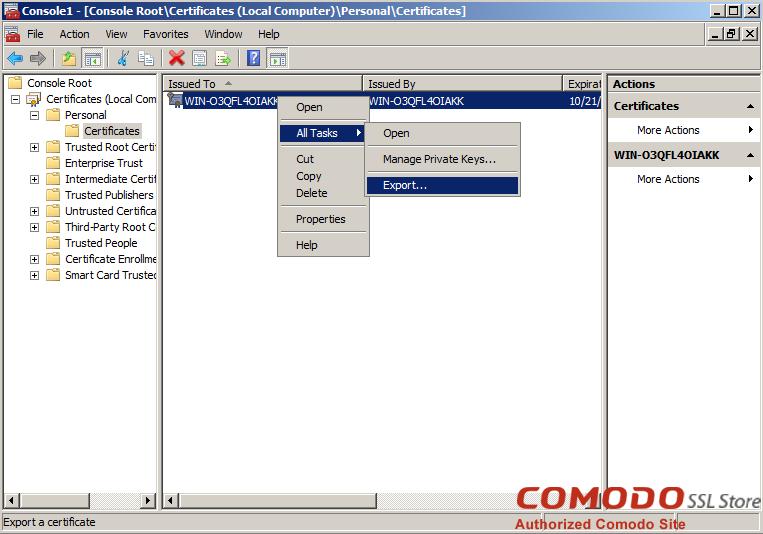 SSL Export into Windows Server - 8