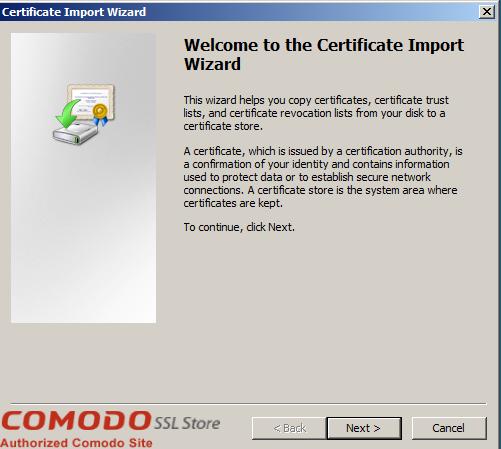 SSL Import into Windows Server - 2
