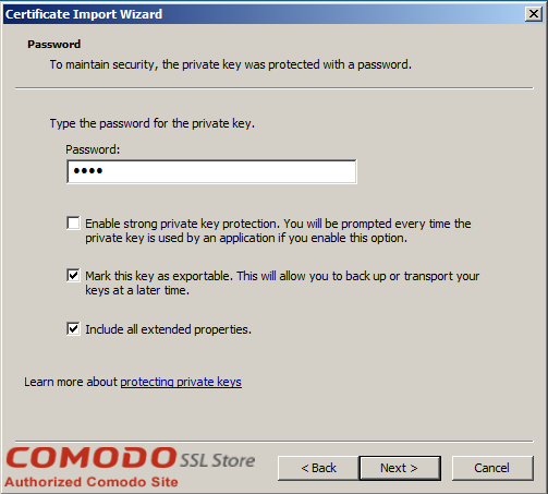 SSL Import into Windows Server - 4