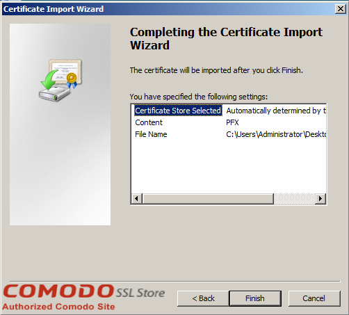 SSL Import into Windows Server - 6