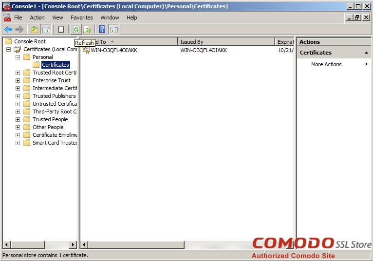 SSL Import into Windows Server - 7