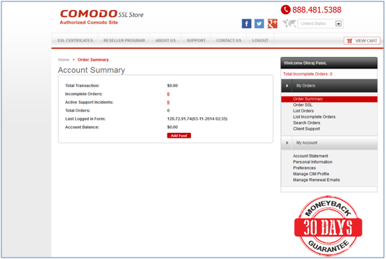comodo code signing certificate instructions