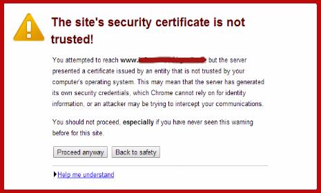 Expired SSL Certificate Google Chrome
