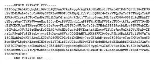 SSL Private Key
