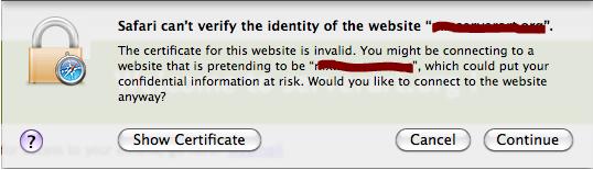 Safari Warning