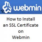 Install SSL on Webmin