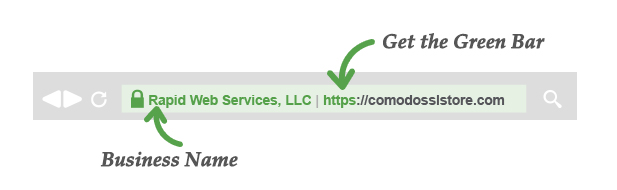 EV SSL Green Bar