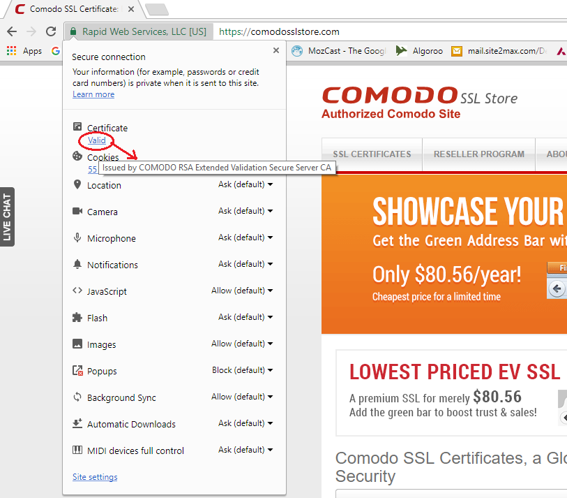 Valid Link for SSL Check