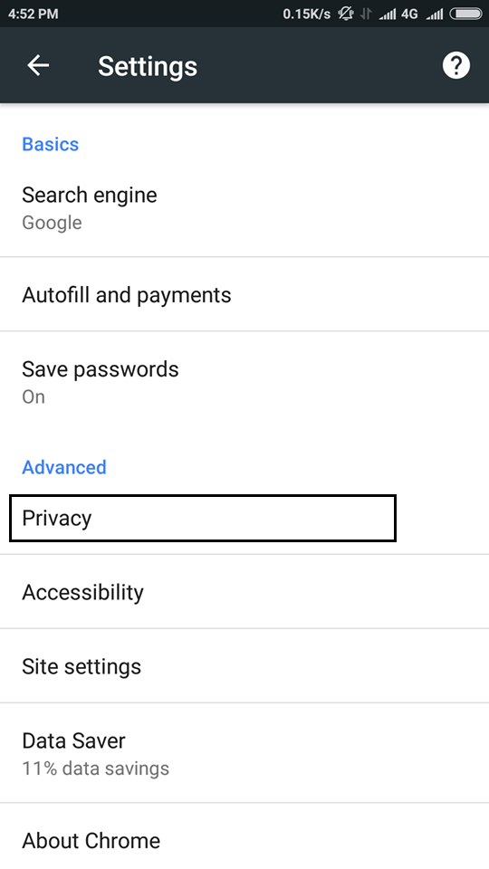 Privacy Android