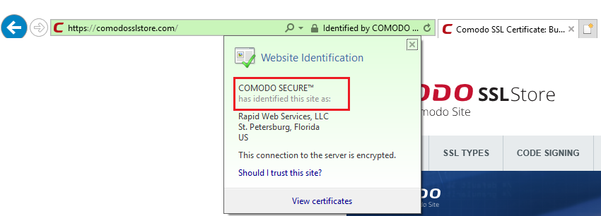 Certificate Authority Internet Explorer