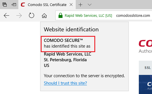 Certificate Authority Microsoft Edge
