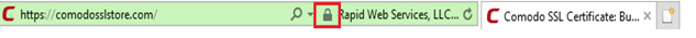Padlock Internet Explorer