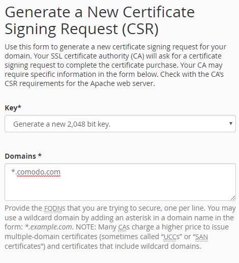 How to Generate a CSR for a Wildcard SSL Certificate | Comodo SSL ...