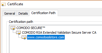 Comodo Root Certificate and Comodo Intermediate Certificate