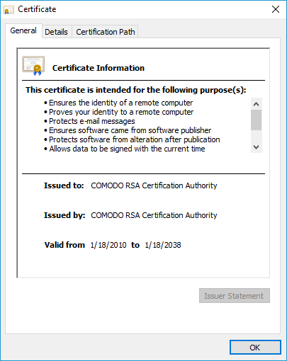What is Comodo RSA Certification authority? | Comodo SSL Certificates