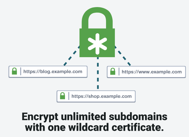 wildcard certificate unlimited subdomains