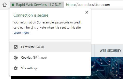 comodo ca certificate bundle details