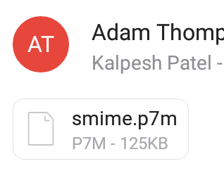 What is an smime p7s file attachment and how do I open it?
