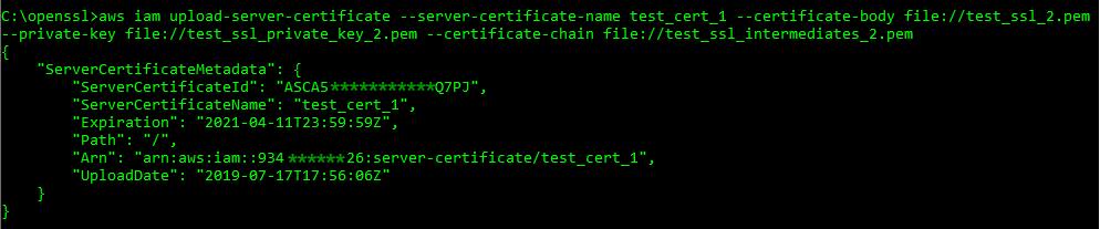 Graphic: AWS IAM certificate upload