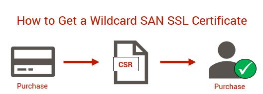 Graphic: Wildcard SAN Cert from Comodo CA (powered by Sectigo)