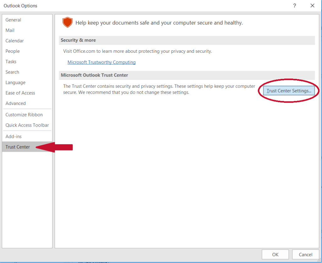 Graphic: Install a secure email certificate in Outlook